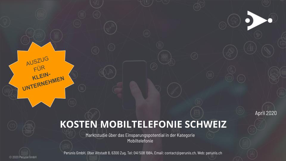 Auszug für kleinere Unternehmen: Ergebnisse der Marktstudie über das Einsparungspotential in der Kategorie Mobiltelefonie