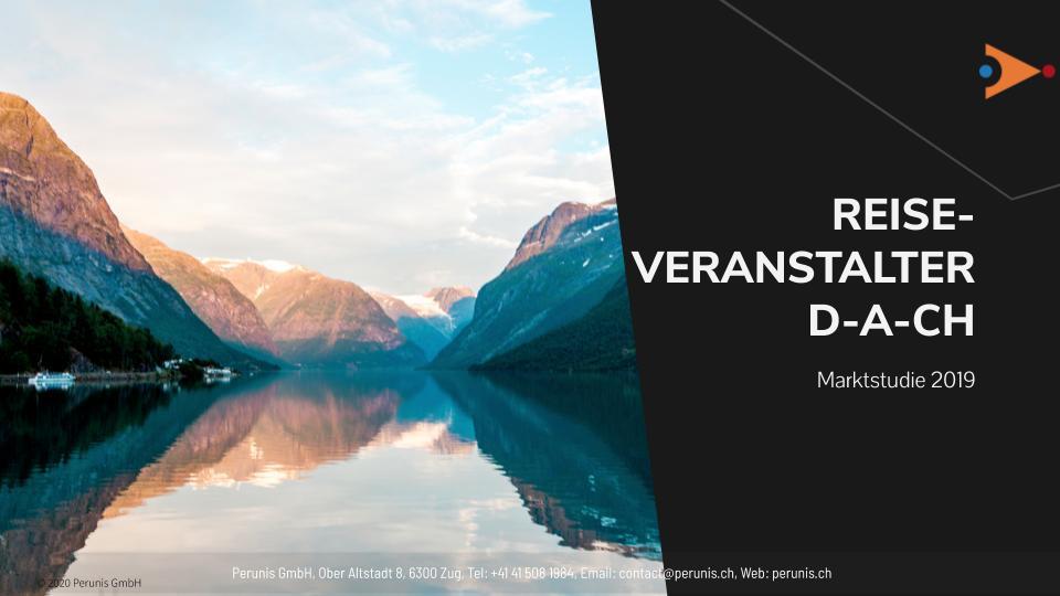 Marktstudie Reiseveranstalter Deutschland, Österreich, Schweiz